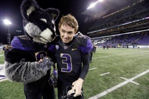 Jake Browning has Harry the Huskies Approval