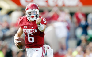 OU QB Baker Mayfield has the Sooners rolling.
