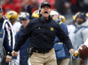 Coach Harbaugh wasn't having a great time with the officials in Columbus last week.